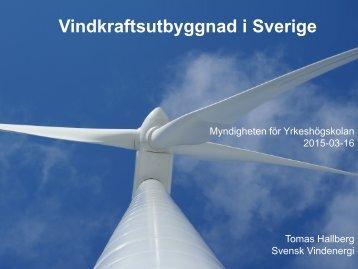 Vindkraftsutbyggnad i Sverige