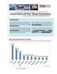 Overview of the Texas Economy