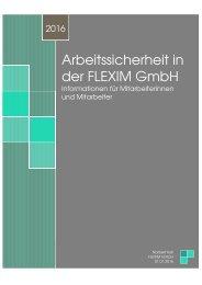 Arbeitssicherheit in der FLEXIM GmbH