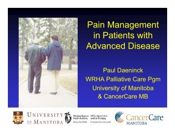 Pain Management in Patients with Advanced Disease - Palliative Care