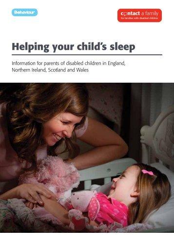 Helping your child's sleep