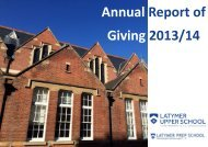 Annual Report of Giving 2013/14