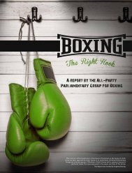 A report by the All-Party Parliamentary Group for Boxing