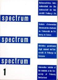 SPECTRUM #1/1958