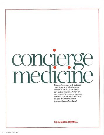 Concierge Medicine - Priority Physicians