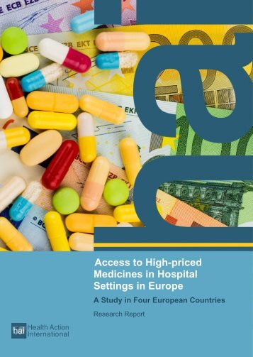 Access to High-priced Medicines in Hospital Settings in Europe