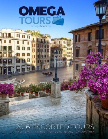 Omega Tours - 2016 Escorted Tours
