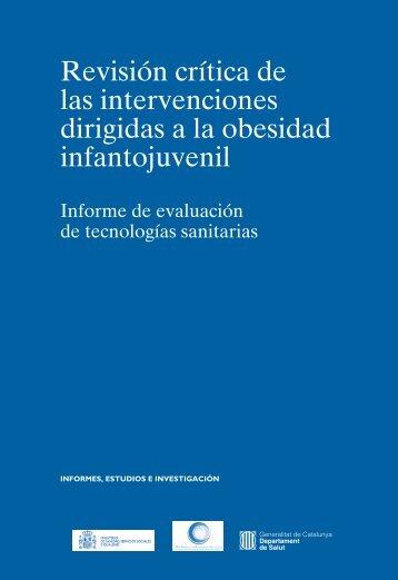 Revisión crítica de las intervenciones dirigidas a la obesidad infantojuvenil