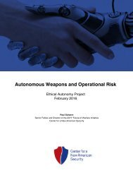 Autonomous Weapons and Operational Risk