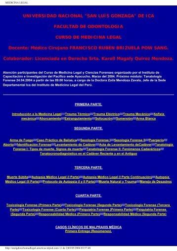 MEDICINA LEGAL - Colegio Mexicano de Ciencias Forenses
