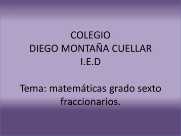 Matematicas para grado sexto