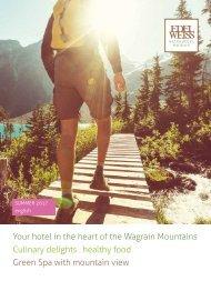 Edelweiss Wagrain summer brochure