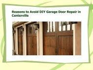 Garage Door Repair in Centerville