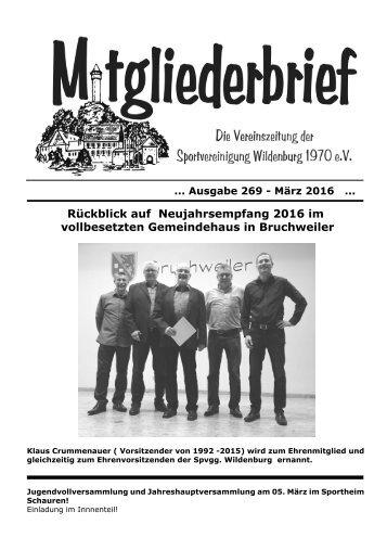 Ausgabe 269 - März 2016
