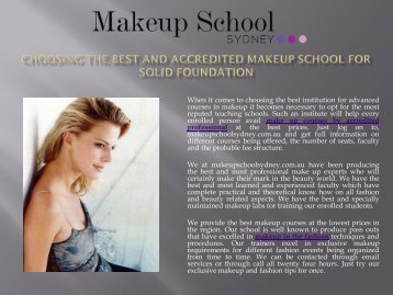 Special Effects Makeup Courses Sydney