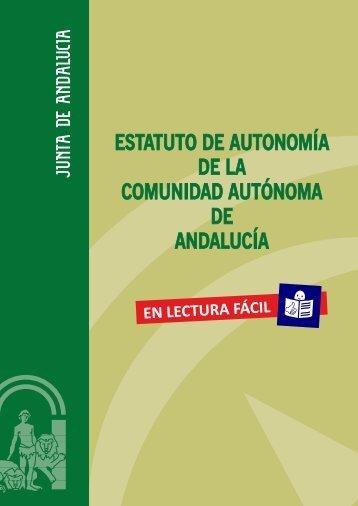 ESTATUTO DE AUTONOMÍA DE LA COMUNIDAD AUTÓNOMA DE ANDALUCÍA