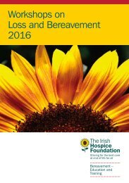 Workshops on Loss and Bereavement 2016