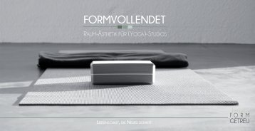 Formvollendete magazine for Raumgestaltung yoga