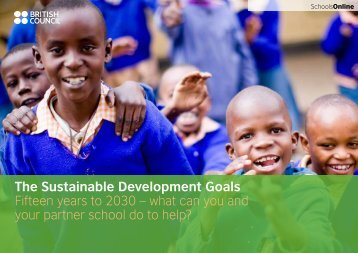 Fifteen years to 2030 – what can you and your partner school do to help?
