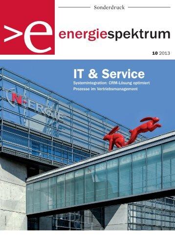 N-ERGIE, Systemintegration und Prozessoptimierung im Vertriebsmanagement, Referenzbericht, energiespektrum 10-2013