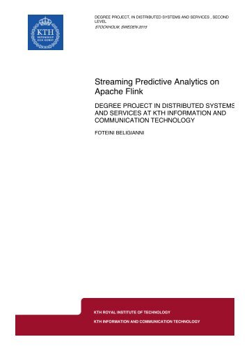 Streaming Predictive Analytics on Apache Flink