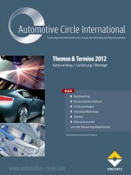 Themen & Termine 2012 - Automotive Circle International