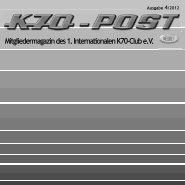 Mitgliedermagazin des 1. Internationalen K70-Club e.V.