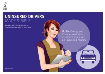 UNINSURED DRIVERS MADE SIMPLE