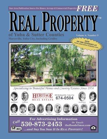 Marysville, Yuba City, Including Gridley - Real Property of Yuba