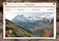 Kampagnen und Schulungen Sommer/Herbst 2016