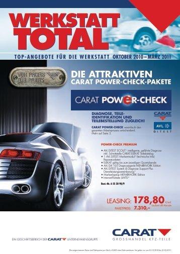Die attraktiven Carat POWer-CHeCk-Pakete - Theo Geueke GmbH