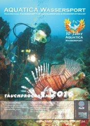 Aquatica Wassersport - Tauchprogramm 2016