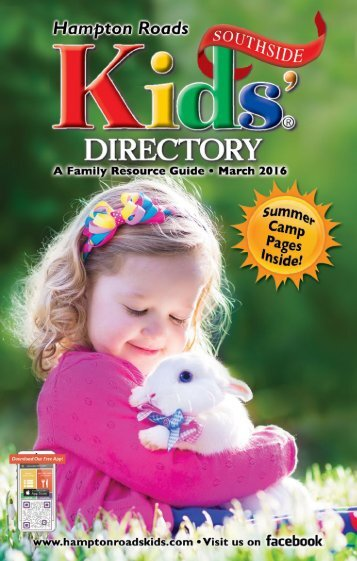 Hampton Roads Kids' Directory Southside Edition:  March 2016 Issue