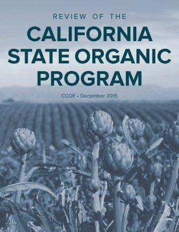 CALIFORNIA STATE ORGANIC PROGRAM