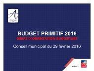 BUDGET PRIMITIF 2016