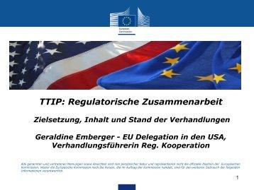 • TTIP Regulatorische Zusammenarbeit