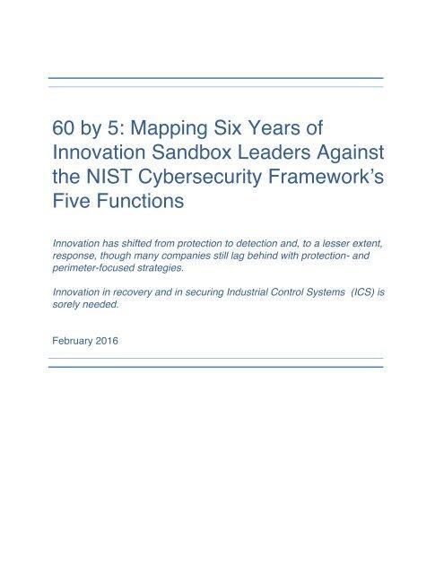 GH-Innovation-Sandbox-and-NIST-Cybersecurity-Framework