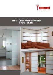 GLEITTÜREN • GLEITPANEELE RAUMTEILER - Werner AG