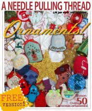 A Needle Pulling Thread Free Ornaments Issue