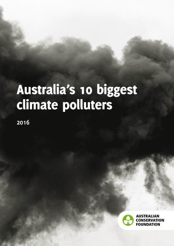 Australia's 10 biggest climate polluters