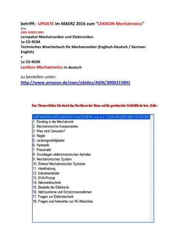 Mechatronik für Aufzugsmonteure und Antriebstechniker, Teil 4 und 5