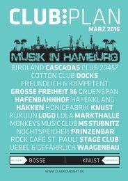 Clubplan Hamburg - März 2016