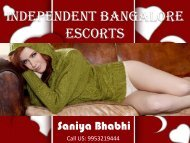 Gorgeous Bangalore Escorts Services for Sensual Joy