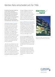 Kärnten Netz GmbH, Prozessstandardisierung mit TINA, Referenzbericht