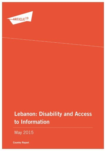Lebanon Disability and Access to Information