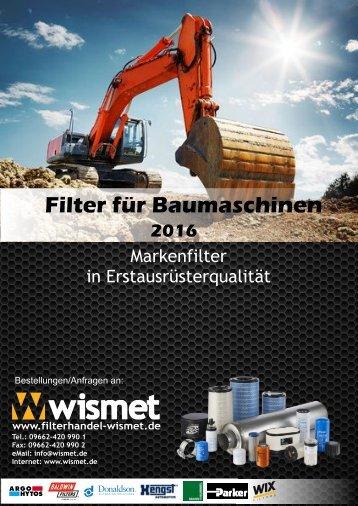Filterkatalog Baumaschinen