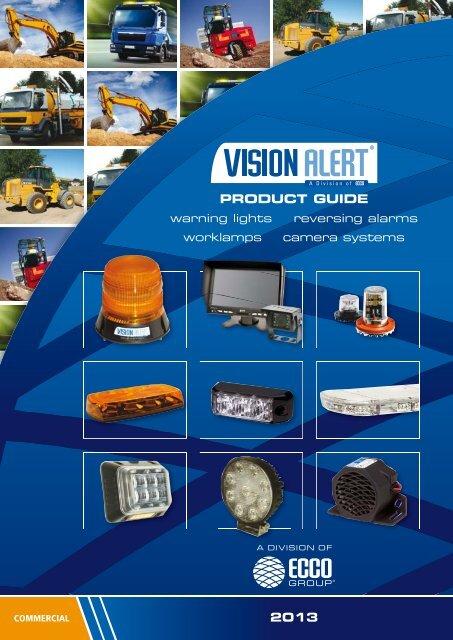 Vision Alert Magnetic Bar Beacon Recovery Truck Van Light Flashing Rotating 12V 24V Dual Voltage