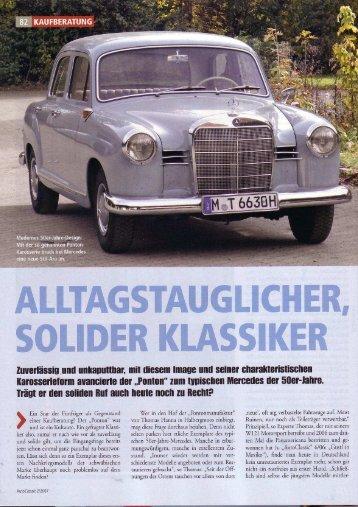 Der Mercedes-Ponton / Alltagstauglicher, solider Klassiker ...