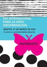 DÍA INTERNACIONAL PARA LA CERO DISCRIMINACIÓN DISTÍNGUETE