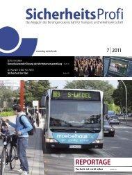 SicherheitsProfi 7/2011 - Berufsgenossenschaft für Transport und ...
